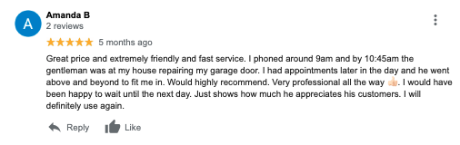 garage door perth reviews